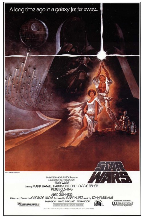 """STAR WARS: EPISODE IV - A NEW HOPE - MOVIE POSTER (STYLE A) (SIZE: 27"""" X 40"""")"""