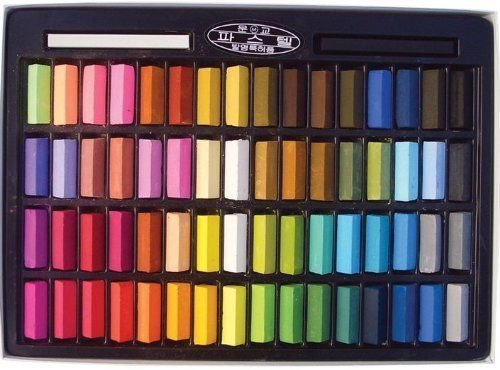 Mungyo Non Toxic Square Chalk, Soft Pastel, 64 Pack