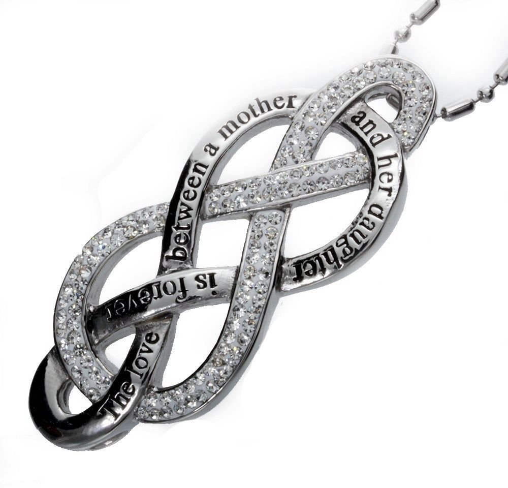 Large Double Infinity Love Symbol; Mother and Daughter Pendant