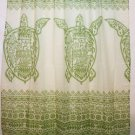 Hawaiian 100% Polyester Fabric Shower Curtain, Green Sea Turtle Shower Curtain
