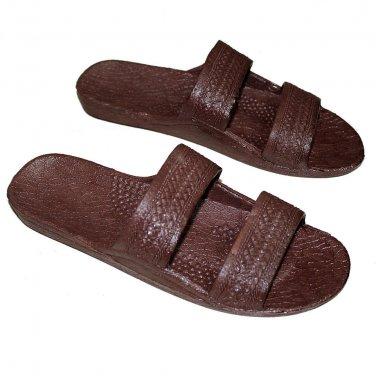 Brown Rubber Hawaiian Jesus Sandals, Surfware Hawaiian Classics Unisex Sandal