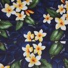 Hawaii Print Aprons - Blue Plumeria Aprons