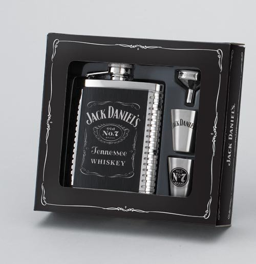 JACK DANIEL'S FLASK/SHOTS/FUNNEL GIFT SET
