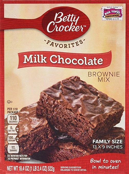 Betty Crocker Milk Chocolate Brownie Mix 18.4oz