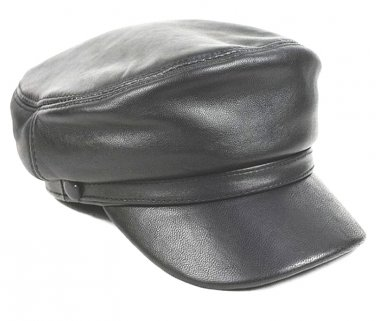New Men's 100% Real Leather military Hat / Leather Trilby