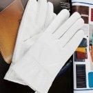 New Men's/Women's 100% Genuine Leather White/ Black Gloves Wedding Party Gloves