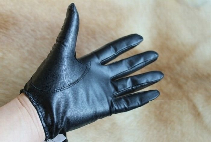 New Men's 100% Genuine Sheepskin Police Tactical Gloves/Driving Gloves CA