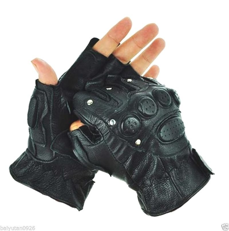 New men's 100% real leather gloves armed police combat gloves