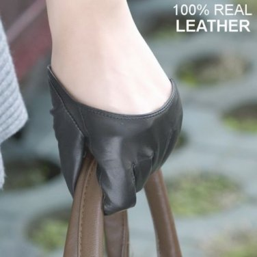 New Style Women's 100% Genuine Leather Semi-Palm Finger gloves /Party gloves