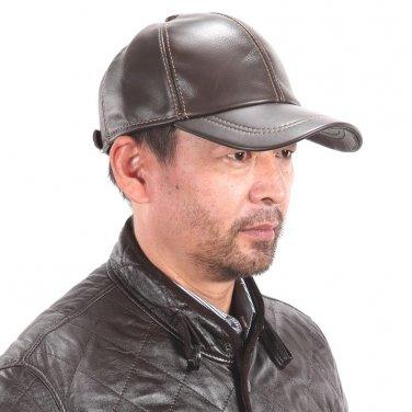 New Men's Women's 100% Genuine Leather Baseball Cap / Golf Hats