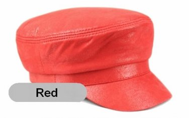New Fashion Men's/Women's Real Scrub leather Hat Beret / Newsboy caps * 9 Colors