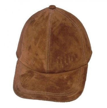New Men's Genuine Brown Matte leather Hat / Baseball Cap / Golf Cap