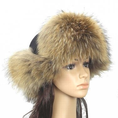 New Fashion Women's 100% Real Fox Fur Hat Warm winter hat *4 Color
