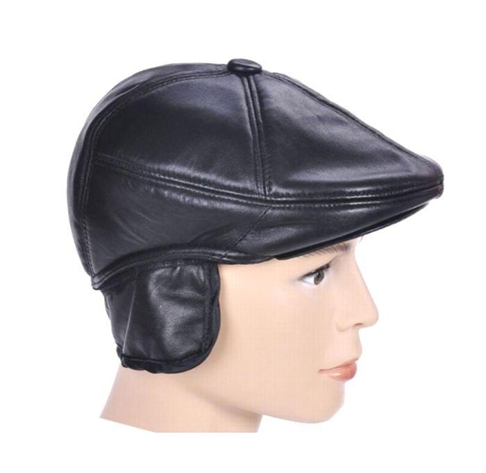 New Design Men's 100% Genuine Leather Cap /Newsboy /Beret /Cabbie Hat/ Golf Hat