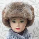 New Men's/Women's 100% Real Rabbit Fur Warm Hat/Russian Bombers Guard Cheek Hat
