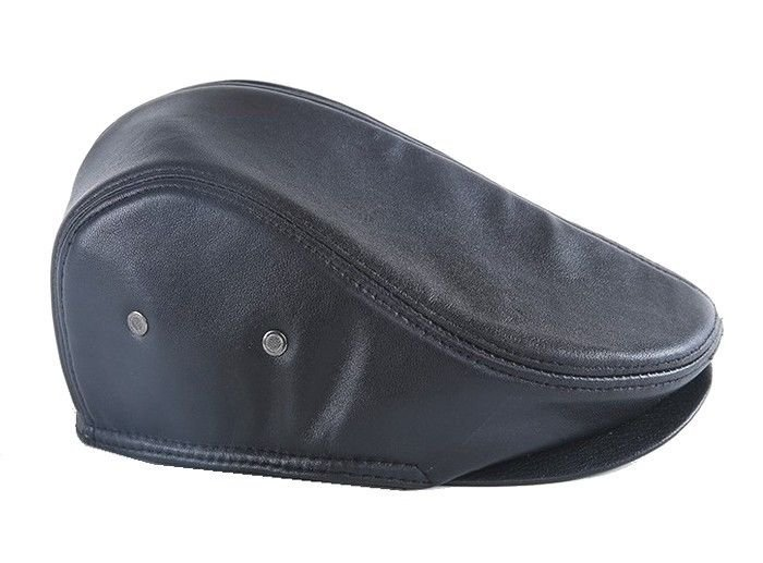 New Men's Real Leather Gatsby Flat Ivy Cap Cabbie Hat Newsboy