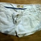 White hollister womens short shorts juniors size 3