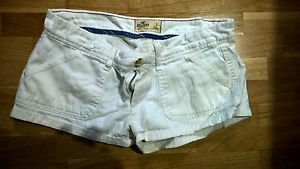 White hollister womens short shorts juniors size 3