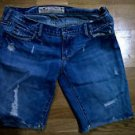 Hollister distressed denim shorts womens juniors size 3