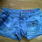 GLO Womens Mini Short Shorts Denimn Junior Size 1