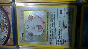 Pokemon Chansey Base Set Holo Foil 3/102 LP
