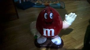 """M&M'S RED CHARACTER LIMITED EDITION COLLECTIBLE 10"""" CANDY DISPENSER"""