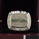 2015 Baylor Bears Big 12 College NCAA National Championship Ring 8-14 Size