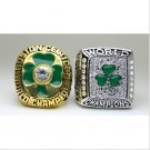 One set 2 PCS 1984 2008 Boston Celtics National Bakstball Championship Ring 10 Size