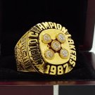 1987 Los Angeles Lakers National Basketball Championship Ring 7-15 Size Copper Engraved Inside