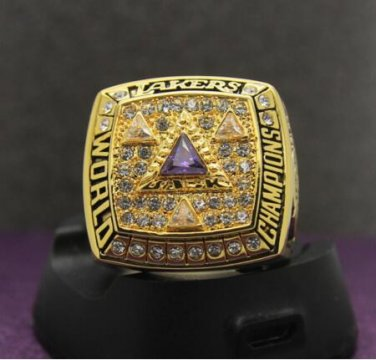 2002 Los Angeles Lakers National Basketball Championship Ring 7-15 Size Copper Engraved Inside