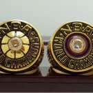 One Set 2 PCS 1980 1982 Los Angeles Lakers National Basketball Championship Ring 7-15 Size