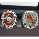 One Set 2 PCS 1964 2011 St. Louis Cardinals MLB World Seires Championship Ring 11S solid in stock