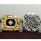 One Set 2 PCS 1985 2014 Kansas City Royals MLB World Seires Championship Ring 7-15 Size