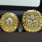 One Set 2 PCS 1985 1987 Edmonton Oilers NHL Hockey Stanely Cup Championship Ring 11S solid in stock