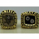 One Set 2 PCS 1991 1992 Pittsburgh Penguins NHL Hockey Stanely Cup Championship Ring 7-15 Size