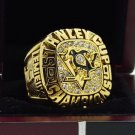 1991 Pittsburgh Penguins NHL Hockey Stanely Cup Championship Ring 7-15 Size Copper Engraved Inside