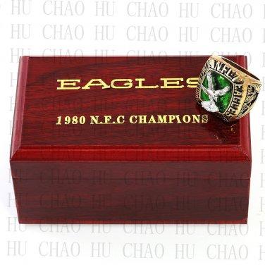 1980 NFC Philadelphia Eagles National Football Championship Ring 10-13Size   Wooden Box