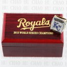 2015 Kansas City Royals World Series Championship Ring Baseball Rings With High Quality Wooden Box