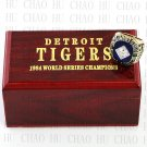 1984 MLB Detroit Tigers World Series Championship Ring 10-13Size With High Quality Wooden Box