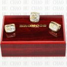 1997 1998 2015 Denver Broncos Super Bowl Championship Ring With Wooden Box Replica Rings