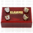 1992 2009 2011 2012 Alabama Crimson Tide National Championship Ring With Wooden Box