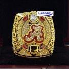 2015 -2016Alabama Crimson Tide NCAA National Championship Rings SABAN 7 S copper solid ring