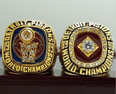 2 PCS 1989 1990 Detroit Pistons Basketball world championship ring 12 S