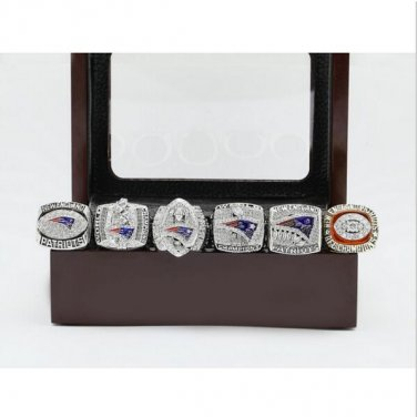 One Set (6PCS)  New England Patriots Super Bowl Football Championship Ring Size 13
