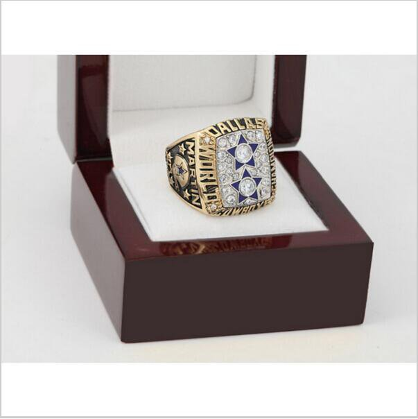 1977 Dallas Cowboys Super Bowl Football Championship Ring Size 12 With High Quality Wooden Box