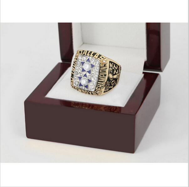 1977 Dallas Cowboys Super Bowl Football Championship Ring Size 13 With High Quality Wooden Box