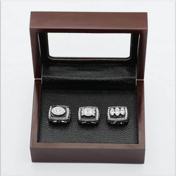 (3PCS)  Oakland Raiders Patriots Super Bowl Championship Ring Size 12 With Wooden Box