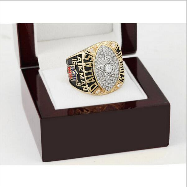1992 Dallas Cowboys Super Bowl Football Championship Ring Size 10 With High Quality Wooden Box