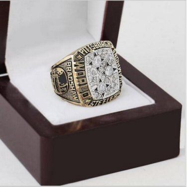 1978 Pittsburgh Steelers NFL Super Bowl Championship Ring 10-13 size with cherry wooden case