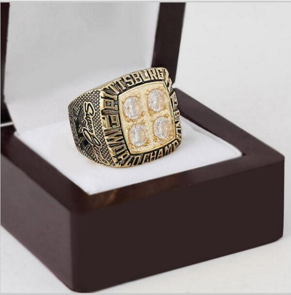 1979 Pittsburgh Steelers NFL Super Bowl Championship Ring 10-13 size with cherry wooden case